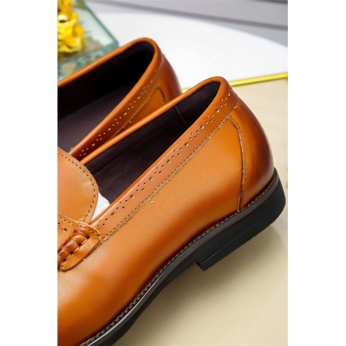 Replica Prada Leather Shoes For Men #798931 $73.72 USD for Wholesale