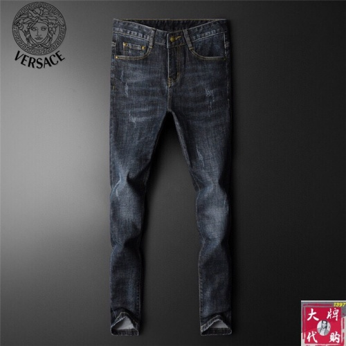 Replica Versace Jeans Trousers For Men #799060 $46.56 USD for Wholesale