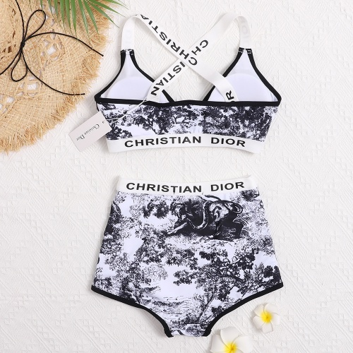 Replica Christian Dior Bathing Suits Sleeveless For Women #799495 $26.19 USD for Wholesale