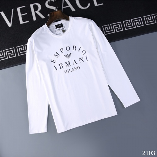 Armani T-Shirts Long Sleeved O-Neck For Men #799621