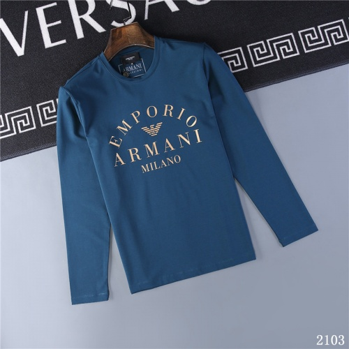 Armani T-Shirts Long Sleeved O-Neck For Men #799622