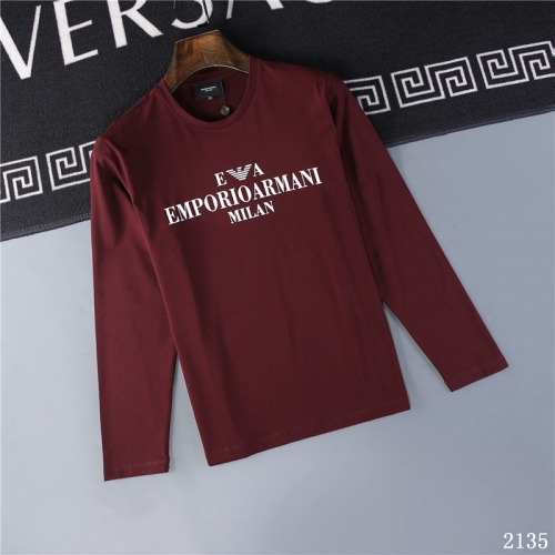 Armani T-Shirts Long Sleeved O-Neck For Men #799634