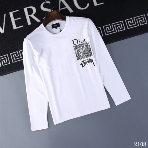 Christian Dior T-Shirts Long Sleeved O-Neck For Men #799639