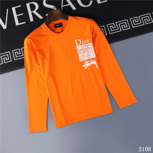Christian Dior T-Shirts Long Sleeved O-Neck For Men #799641