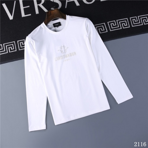 Christian Dior T-Shirts Long Sleeved O-Neck For Men #799645