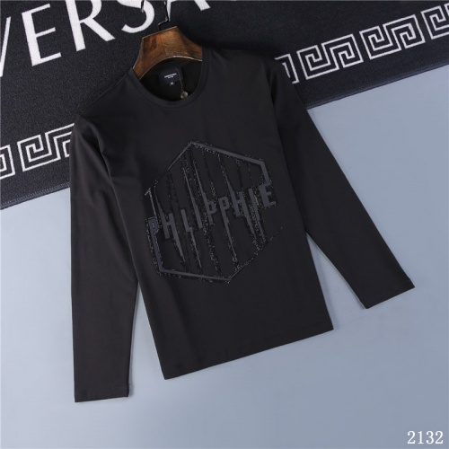 Philipp Plein PP T-Shirts Long Sleeved O-Neck For Men #799655 $32.98 USD, Wholesale Replica Philipp Plein PP T-Shirts