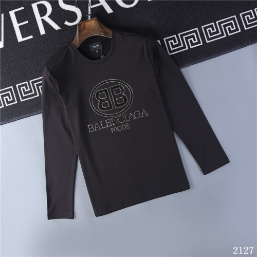 Balenciaga T-Shirts Long Sleeved O-Neck For Men #799662