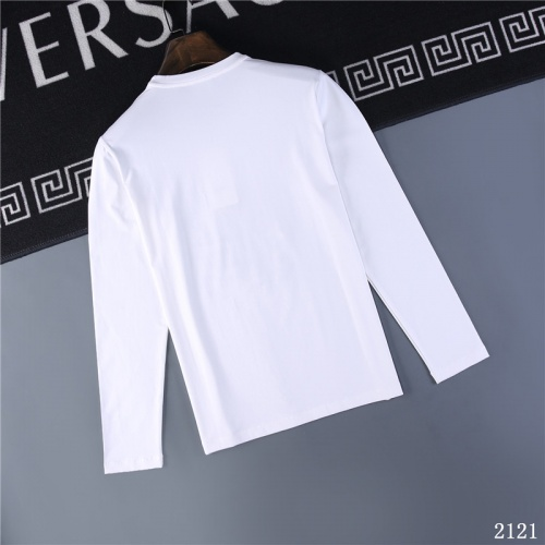 Replica Valentino T-Shirts Long Sleeved O-Neck For Men #799681 $32.98 USD for Wholesale