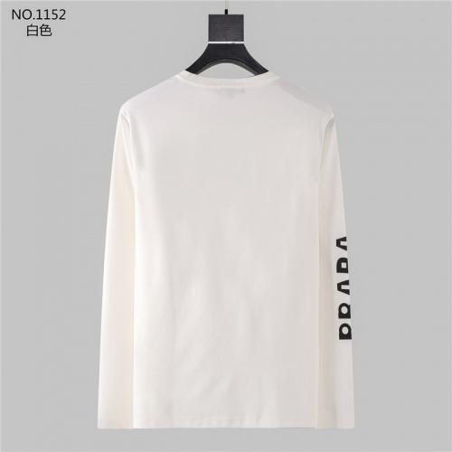 Replica Prada T-Shirts Long Sleeved O-Neck For Men #799690 $32.98 USD for Wholesale