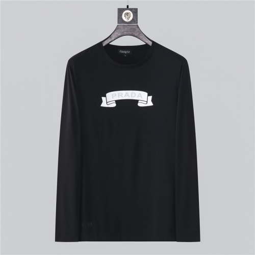 Prada T-Shirts Long Sleeved O-Neck For Men #799693