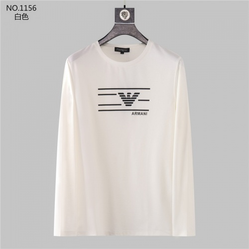 Armani T-Shirts Long Sleeved O-Neck For Men #799698