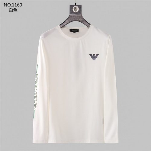 Armani T-Shirts Long Sleeved O-Neck For Men #799702