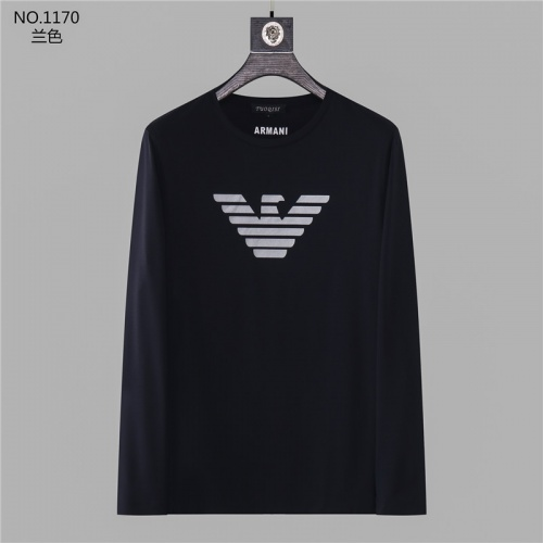 Armani T-Shirts Long Sleeved O-Neck For Men #799707