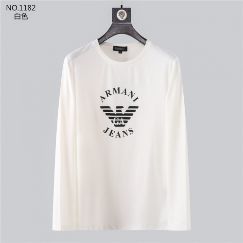 Armani T-Shirts Long Sleeved O-Neck For Men #799715
