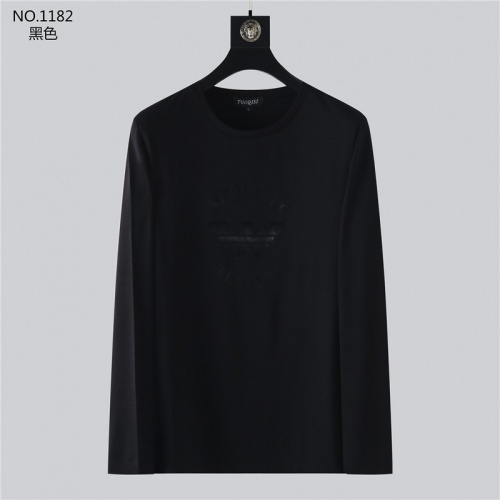 Armani T-Shirts Long Sleeved O-Neck For Men #799716