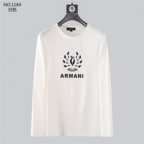 Armani T-Shirts Long Sleeved O-Neck For Men #799718