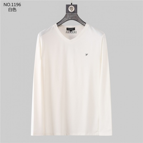 Armani T-Shirts Long Sleeved O-Neck For Men #799719