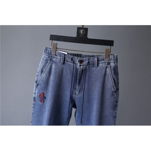 Replica Moncler Jeans Trousers For Men #799768 $43.65 USD for Wholesale