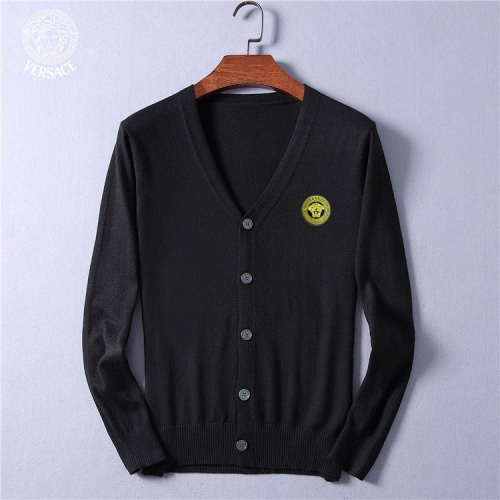 Versace Sweaters Long Sleeved V-Neck For Men #799788