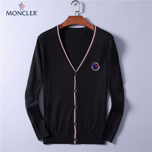 Moncler Sweaters Long Sleeved V-Neck For Men #799792