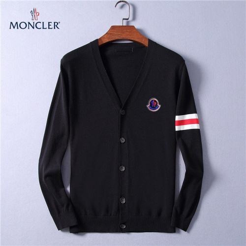 Moncler Sweaters Long Sleeved V-Neck For Men #799793