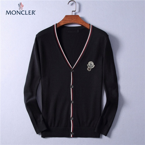 Moncler Sweaters Long Sleeved V-Neck For Men #799795