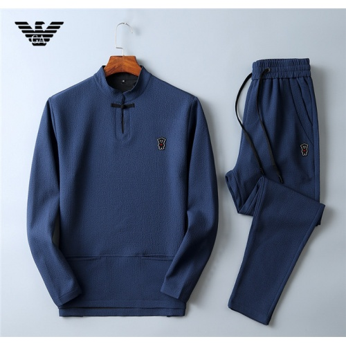 Armani Tracksuits Long Sleeved O-Neck For Men #799804