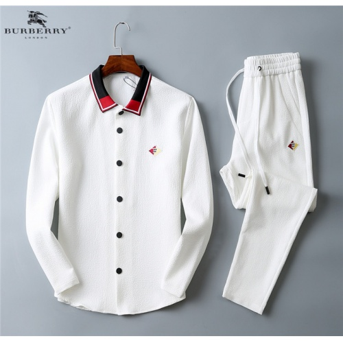 Burberry Tracksuits Long Sleeved Polo For Men #799821