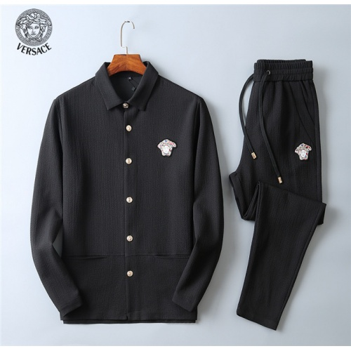 Versace Tracksuits Long Sleeved Polo For Men #799835