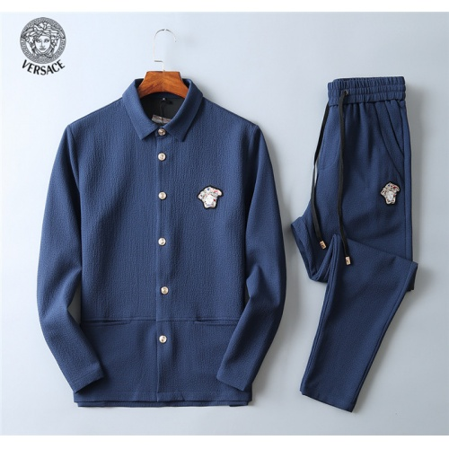 Versace Tracksuits Long Sleeved Polo For Men #799836