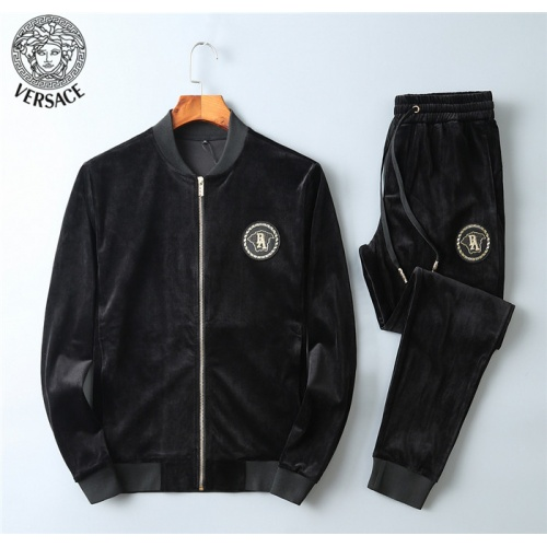 Versace Tracksuits Long Sleeved Zipper For Men #799841