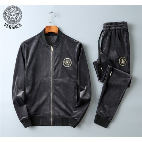 Versace Tracksuits Long Sleeved Zipper For Men #799842