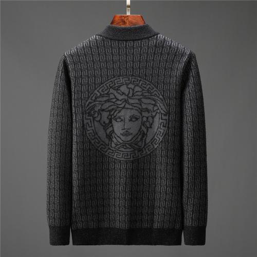 Versace Sweaters Long Sleeved Zipper For Men #799919 $58.20, Wholesale Replica Versace Sweaters
