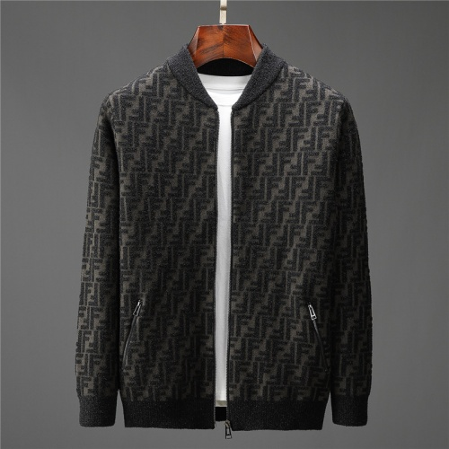Fendi Sweaters Long Sleeved Zipper For Men #799920