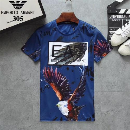 Armani T-Shirts Short Sleeved O-Neck For Men #801040