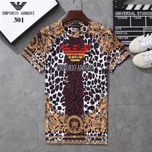 Armani T-Shirts Short Sleeved O-Neck For Men #801043