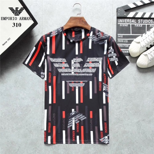 Armani T-Shirts Short Sleeved O-Neck For Men #801045
