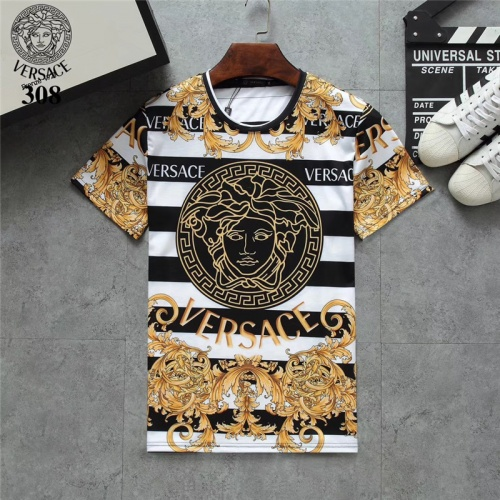 Versace T-Shirts Short Sleeved O-Neck For Men #801103 $24.25 USD, Wholesale Replica Versace T-Shirts