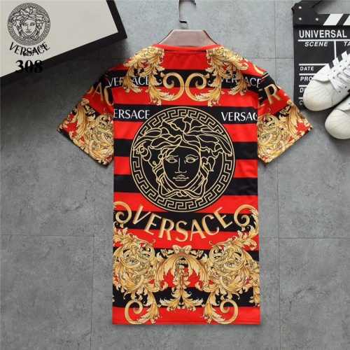Replica Versace T-Shirts Short Sleeved O-Neck For Men #801104 $24.25 USD for Wholesale