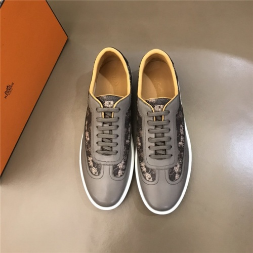 Replica Hermes Casual Shoes For Men #801225 $69.84 USD for Wholesale