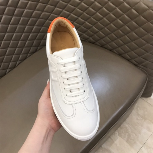 Replica Hermes Casual Shoes For Men #801228 $73.72 USD for Wholesale
