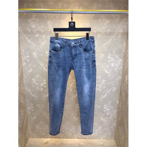 Replica Versace Jeans Trousers For Men #801576 $50.44 USD for Wholesale