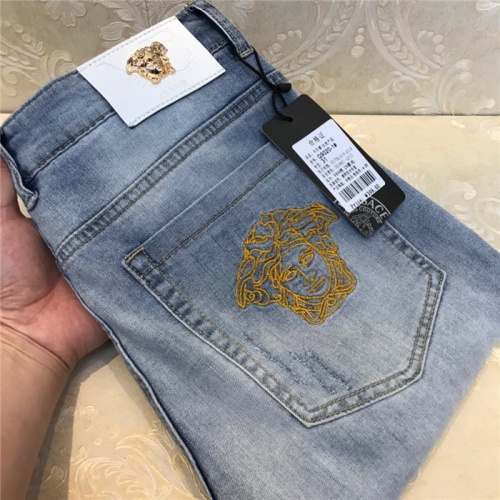 Replica Versace Jeans Trousers For Men #801580 $54.32 USD for Wholesale