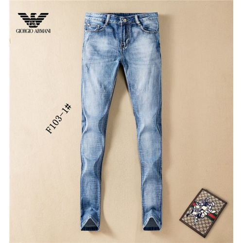 Replica Armani Jeans Trousers For Men #801586 $46.56 USD for Wholesale