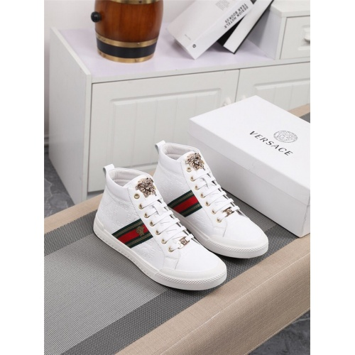Versace High Tops Shoes For Men #801654