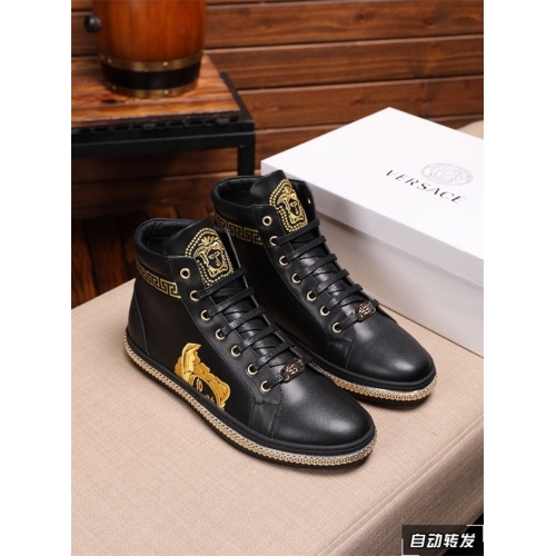 Versace High Tops Shoes For Men #801657