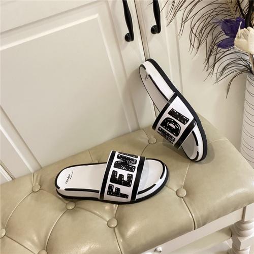 Replica Fendi Slippers For Men #801809 $69.84 USD for Wholesale