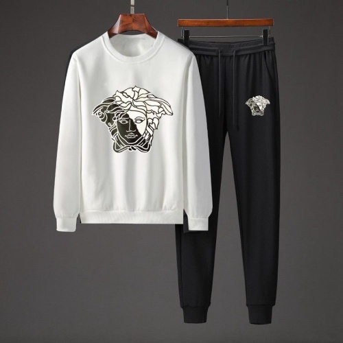 Versace Tracksuits Long Sleeved O-Neck For Men #801855 $82.45 USD, Wholesale Replica Versace Tracksuits