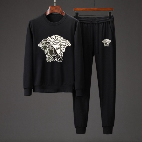 Versace Tracksuits Long Sleeved O-Neck For Men #801856 $82.45 USD, Wholesale Replica Versace Tracksuits