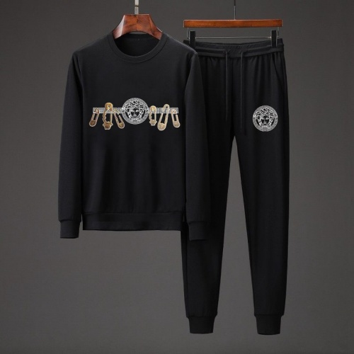 Versace Tracksuits Long Sleeved O-Neck For Men #801869 $82.45 USD, Wholesale Replica Versace Tracksuits